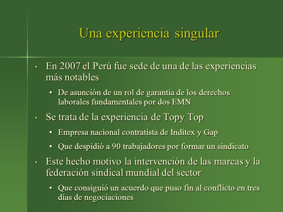 Una experiencia singular En 2007 el Perú fue sede de una de las experiencias más notables En 2007 el Perú fue sede de una de las experiencias más nota