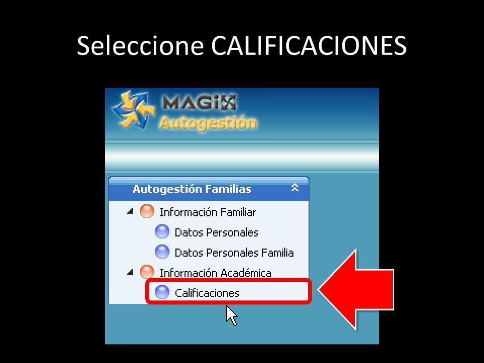 Seleccione CALIFICACIONES