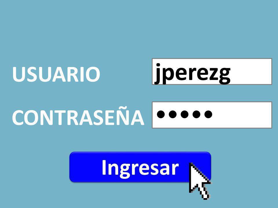 USUARIO CONTRASEÑA jperezg Ingresar