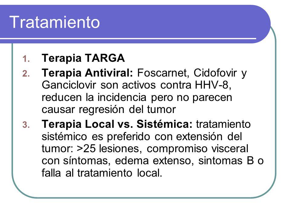 Tratamiento 1.Terapia TARGA 2.