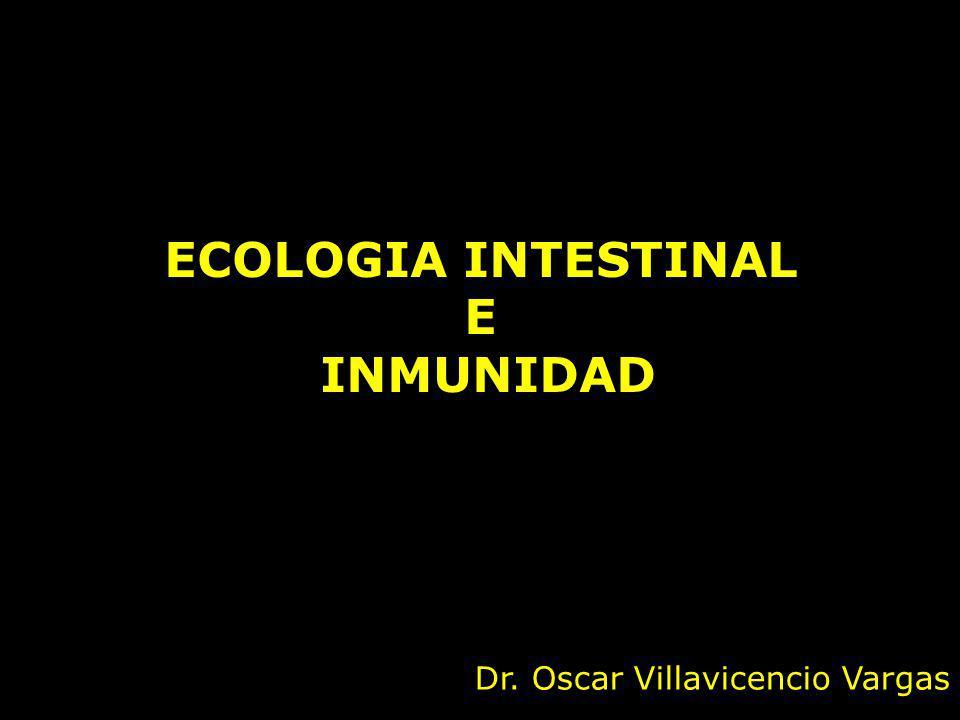 ECOLOGIA INTESTINAL E INMUNIDAD Dr. Oscar Villavicencio Vargas