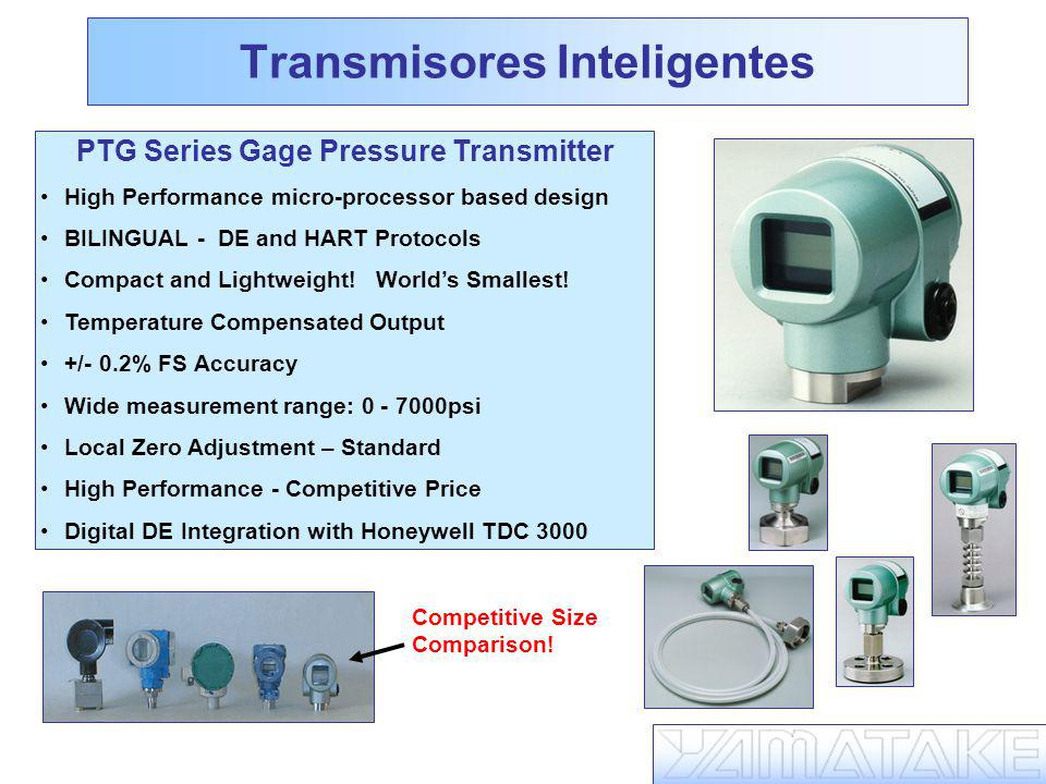 Transmisores Inteligentes PTG Series Gage Pressure Transmitter High Performance micro-processor based design BILINGUAL - DE and HART Protocols Compact and Lightweight.