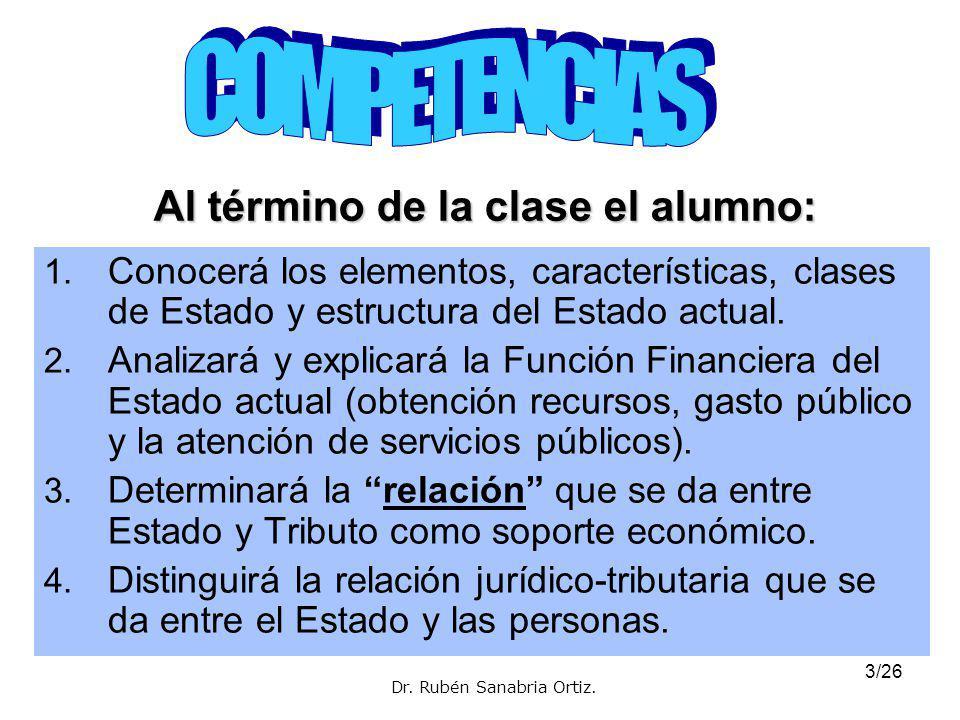 3/26 Al término de la clase el alumno: 1.
