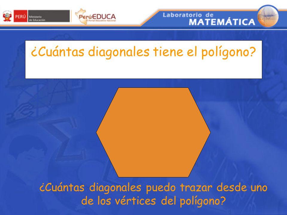 ¿Cuántas diagonales tiene el polígono.