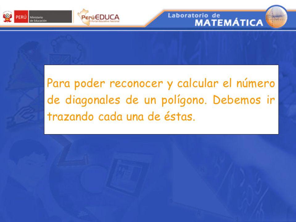 Analizando el número de diagonales de un polígono (Geometría)