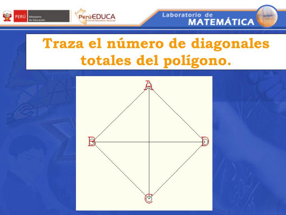 Completa la tabla Número de lados del polígono Diagonales trazadas 4567n4567n ¿Qué relación existe entre el número de lados un polígono y el número de