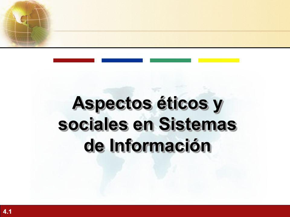 4.1 Aspectos éticos y sociales en Sistemas de Información