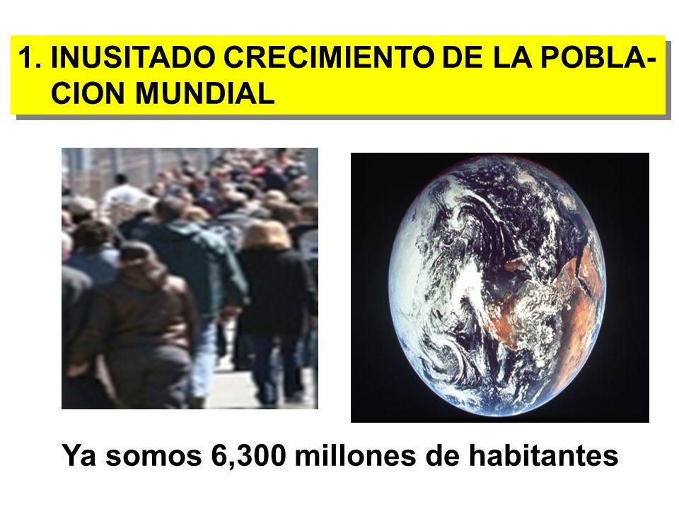 1.INUSITADO CRECIMIENTO DE LA POBLA- CION MUNDIAL 1.