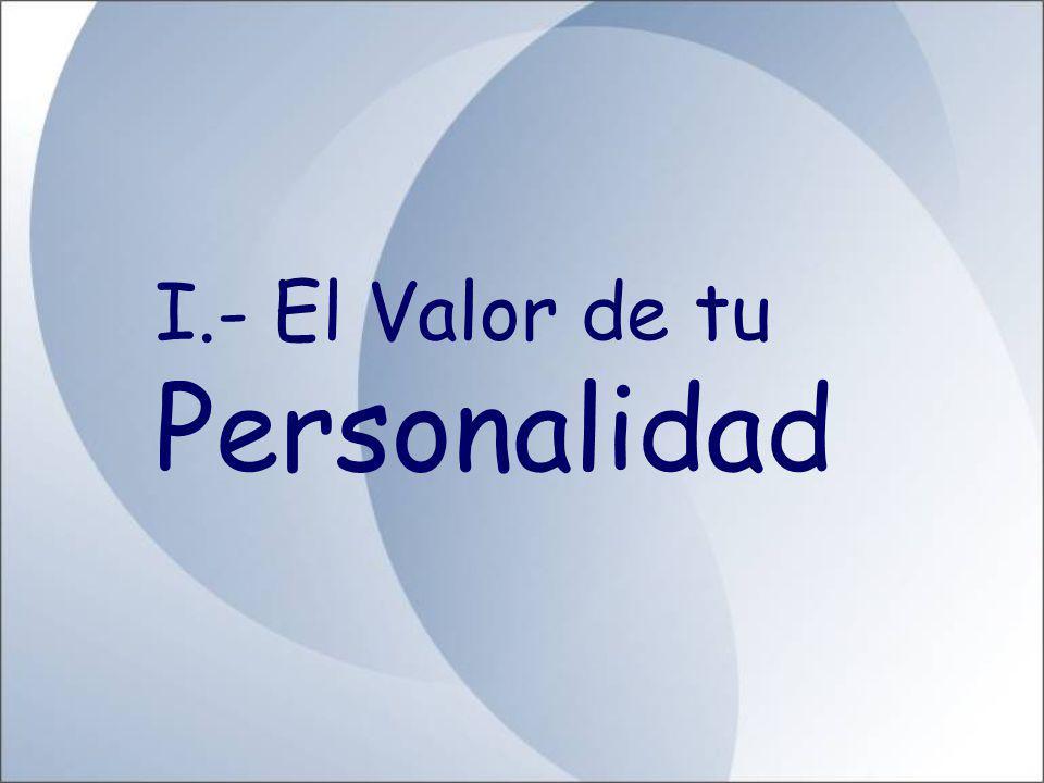 Dr. Renán Horna Figueroa TEMARIO I.- El Valor de tu Personalidad II.- La comunicación Eficaz III.- Tu Posición de Vida IV.- Autoestima V.- Liderazgo y