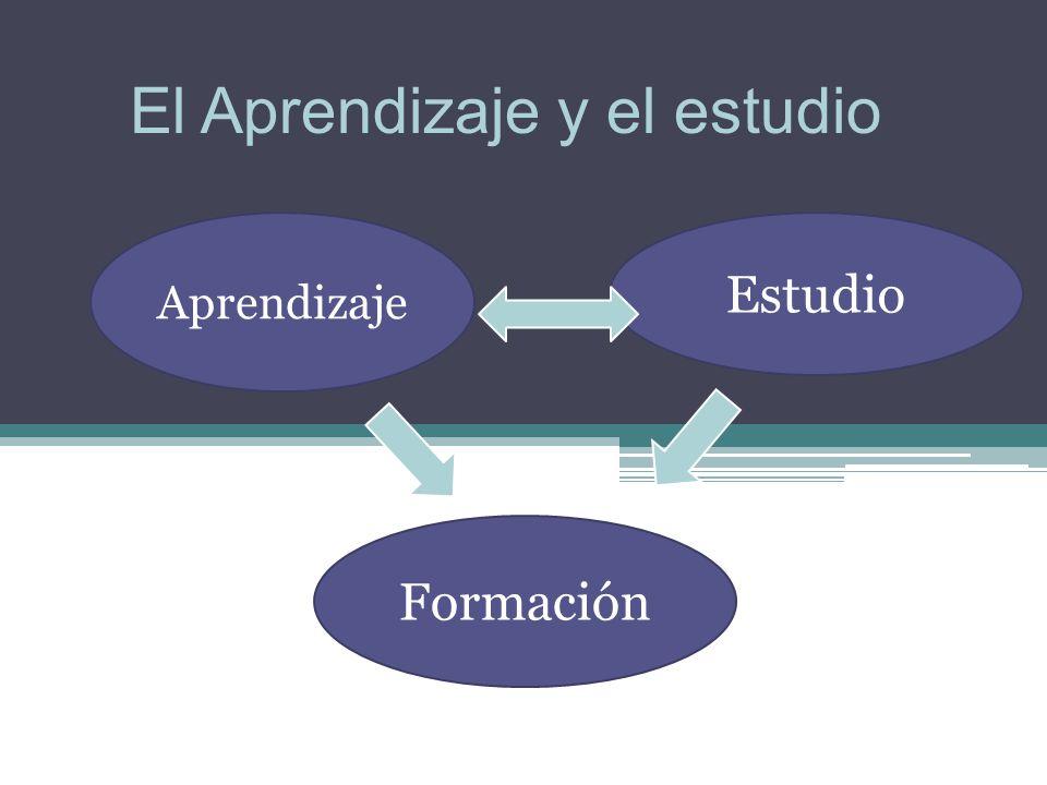 Formación Aprendizaje Estudio El Aprendizaje y el estudio