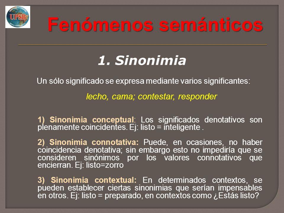 Fenómenos semánticos 1.
