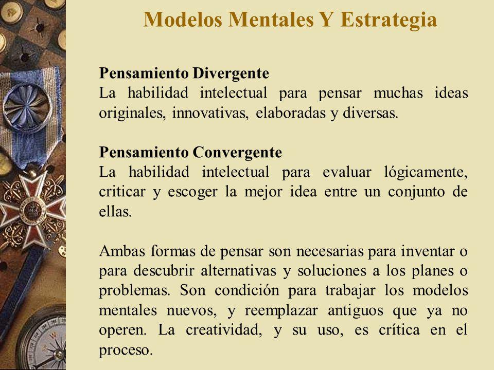 Modelos Mentales Y Estrategia Diferencia entre lo que se dice y lo que se hace El Modelo Mental Real se encuentra detrás de lo que la persona hace, y