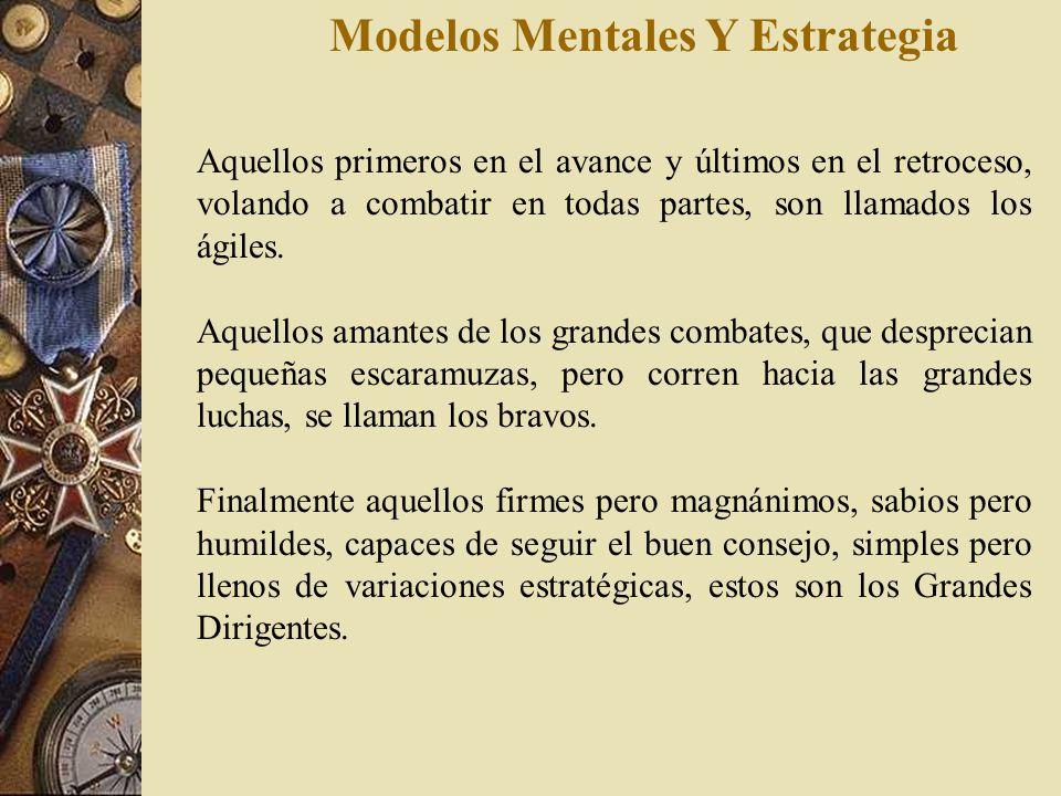 Modelos Mentales Y Estrategia Los hay fuertes pero tolerantes, de gran altura pero modestos, son sabios pero pueden criticarse a si mismos. Son los ll