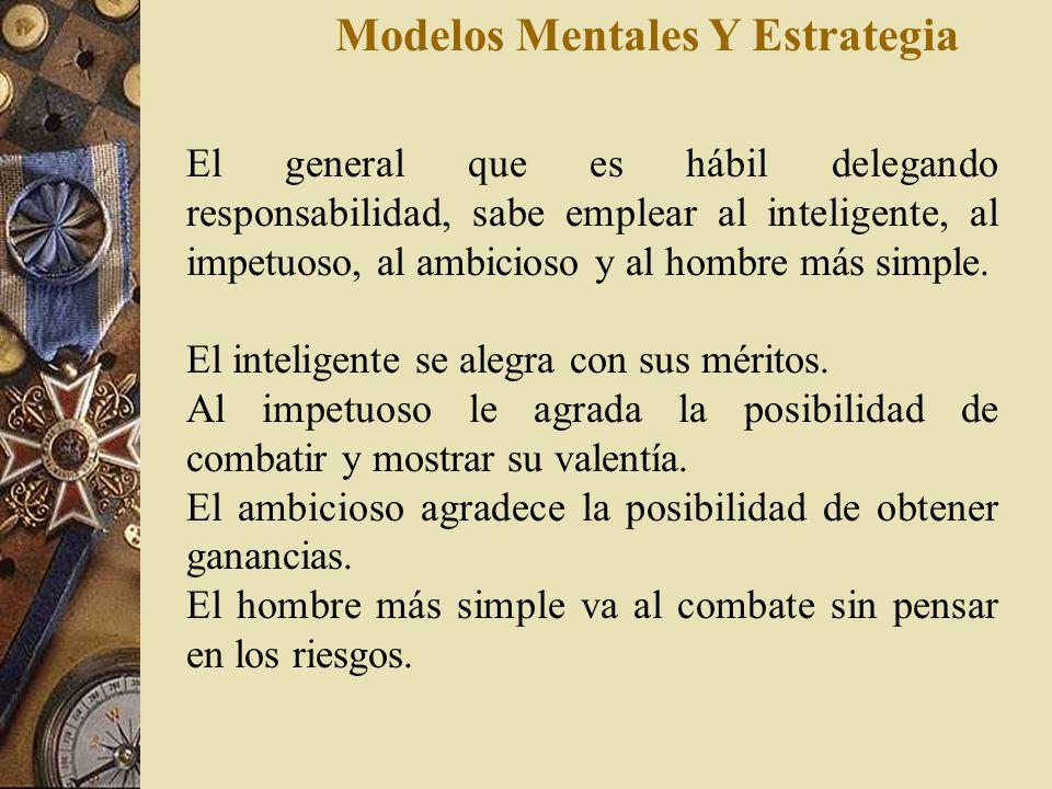 Modelos Mentales Y Estrategia La regla es : Si tienes diez veces más fuerza que el enemigo, rodéalo. Si eres cinco veces más fuerte, atácalo. Si eres