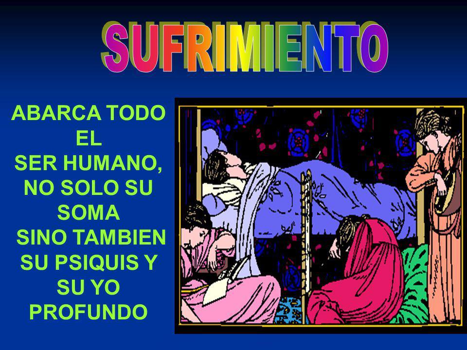 ABARCA TODO EL SER HUMANO, NO SOLO SU SOMA SINO TAMBIEN SU PSIQUIS Y SU YO PROFUNDO