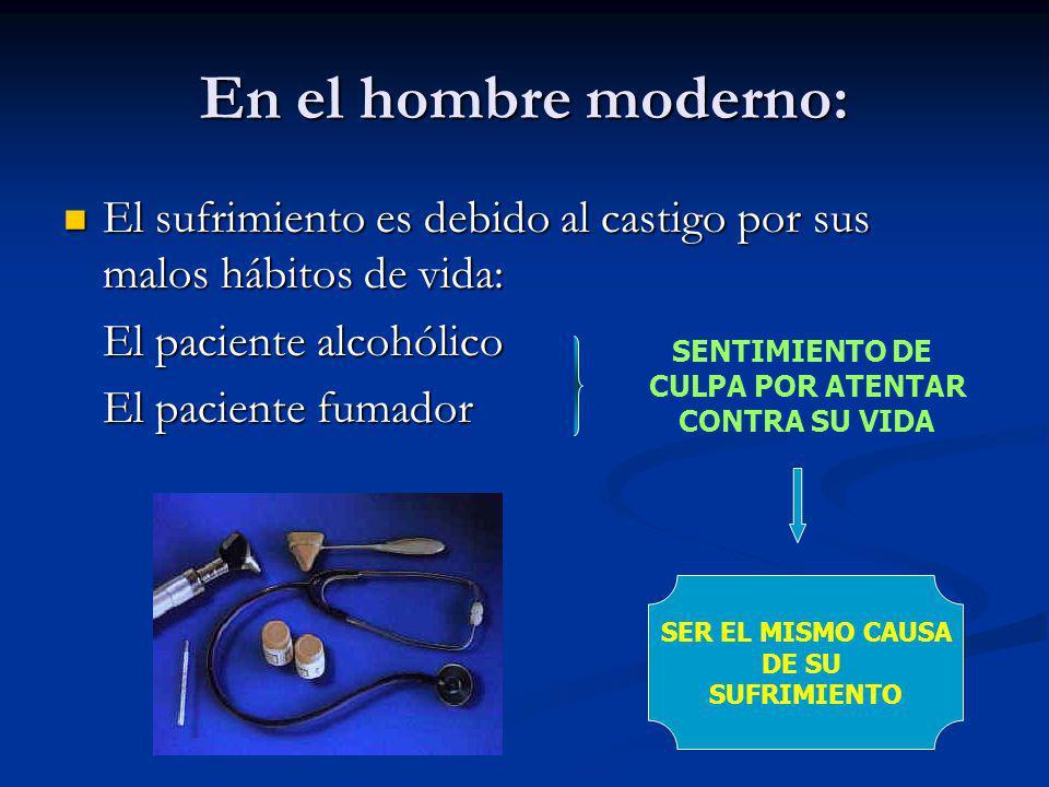 En el hombre moderno: El sufrimiento es debido al castigo por sus malos hábitos de vida: El sufrimiento es debido al castigo por sus malos hábitos de