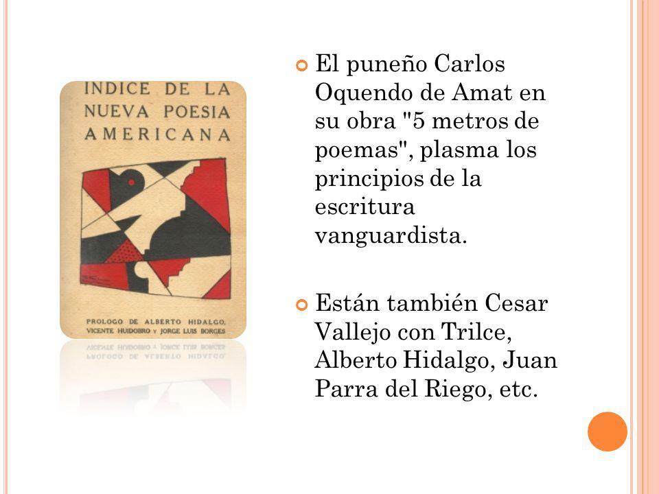 El puneño Carlos Oquendo de Amat en su obra