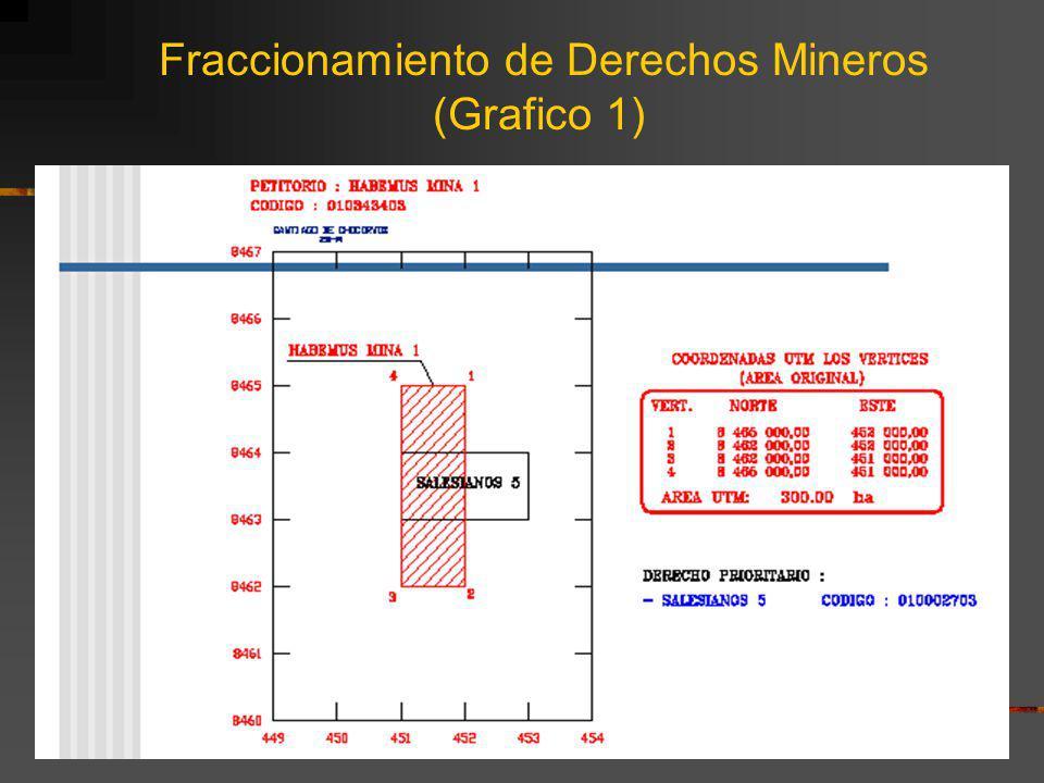 Fraccionamiento de Derechos Mineros (Grafico 1)