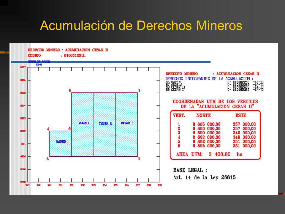 Acumulación de Derechos Mineros