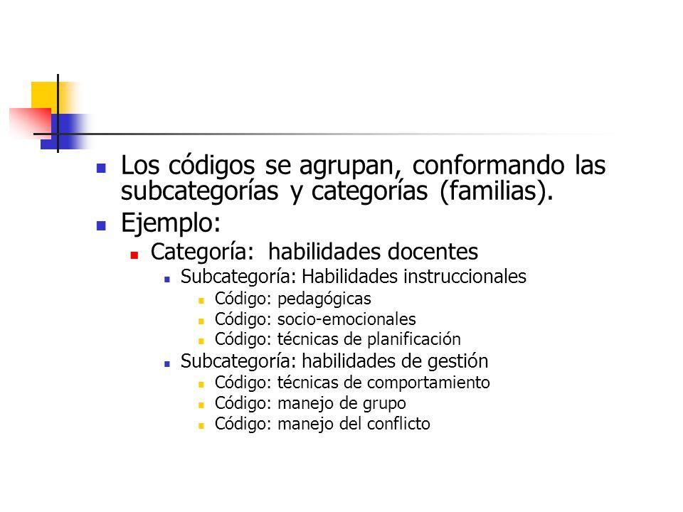 Las categorías son relacionadas entre ellas para formar un sistema coherente e integrado de hipótesis.