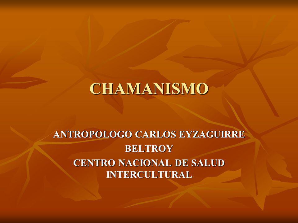 CHAMANISMO ANTROPOLOGO CARLOS EYZAGUIRRE BELTROY CENTRO NACIONAL DE SALUD INTERCULTURAL