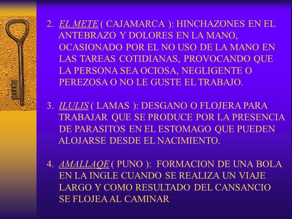 2. EL METE ( CAJAMARCA ): HINCHAZONES EN EL ANTEBRAZO Y DOLORES EN LA MANO, OCASIONADO POR EL NO USO DE LA MANO EN LAS TAREAS COTIDIANAS, PROVOCANDO Q
