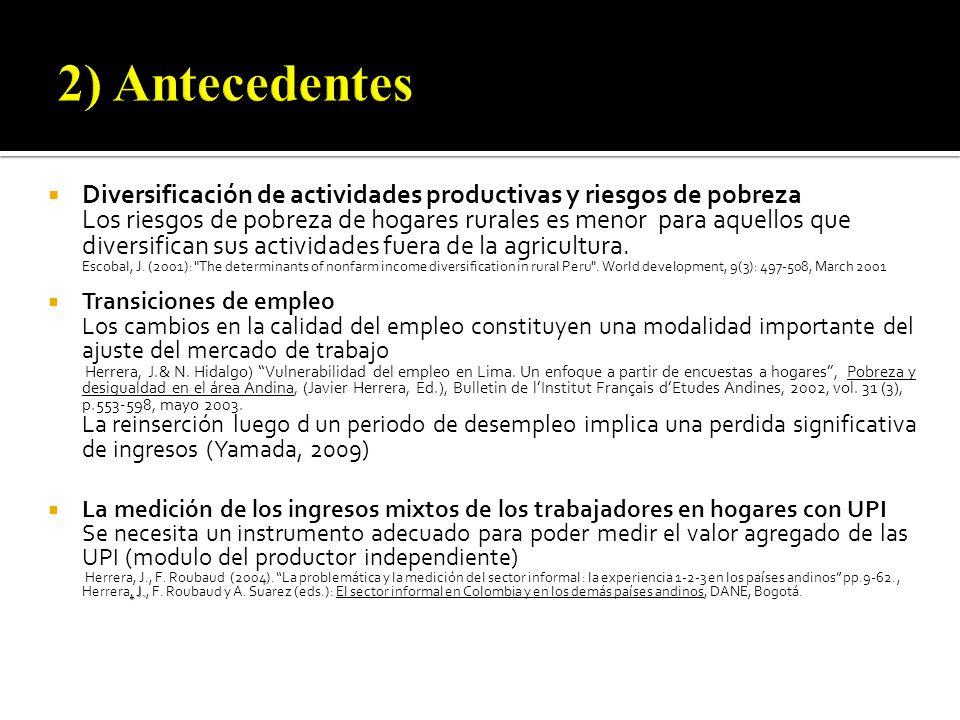 Se requieren datos apareados (hogares y unidades de producción), inexistentes en los países en desarrollo.