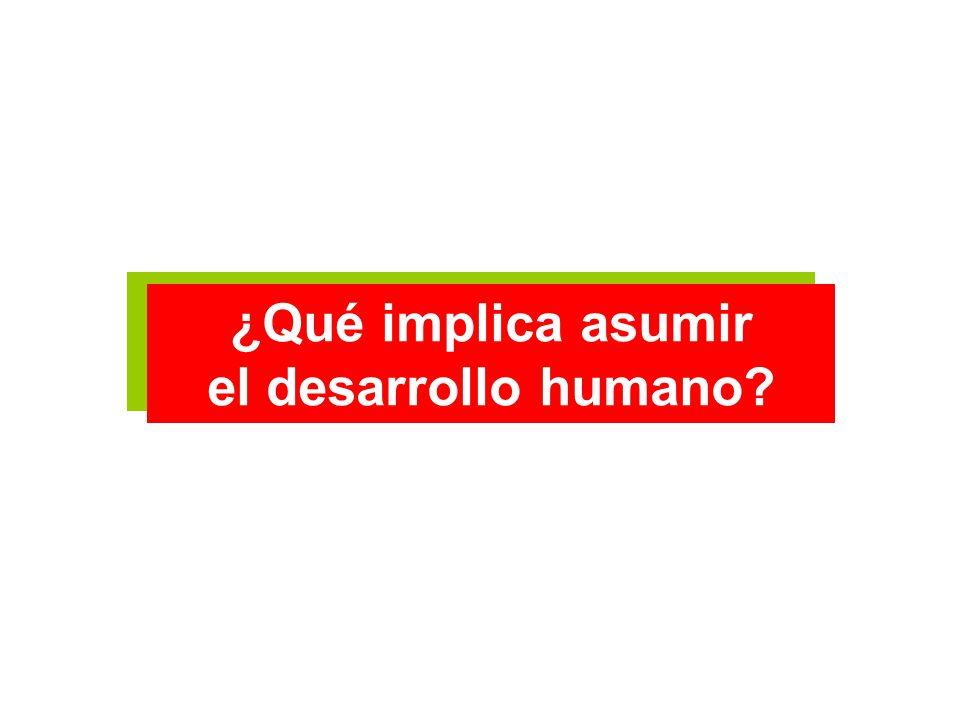 ¿Qué implica asumir el desarrollo humano? ¿Qué implica asumir el desarrollo humano?