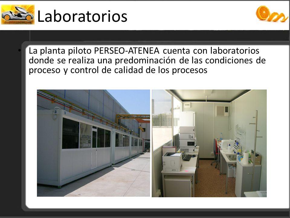 Laboratorios La planta piloto PERSEO-ATENEA cuenta con laboratorios donde se realiza una predominación de las condiciones de proceso y control de cali
