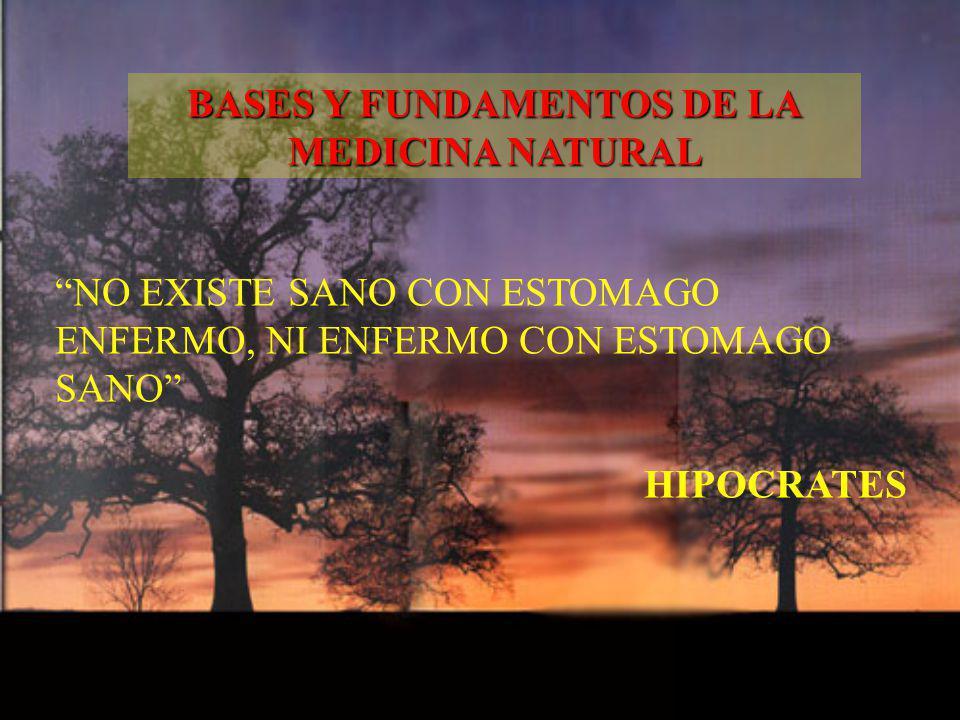 NO EXISTE SANO CON ESTOMAGO ENFERMO, NI ENFERMO CON ESTOMAGO SANO HIPOCRATES BASES Y FUNDAMENTOS DE LA MEDICINA NATURAL