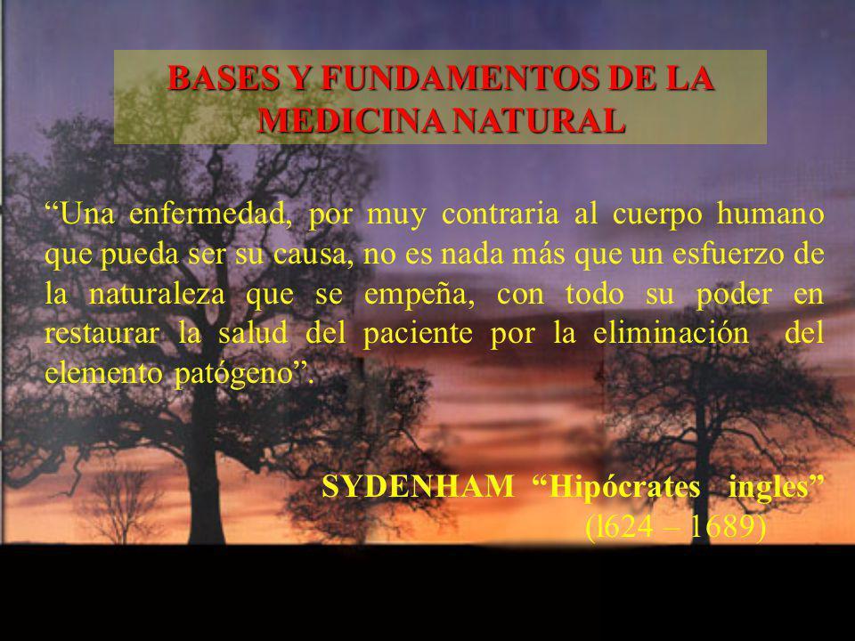 Una enfermedad, por muy contraria al cuerpo humano que pueda ser su causa, no es nada más que un esfuerzo de la naturaleza que se empeña, con todo su