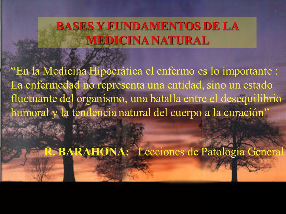 En la Medicina Hipocrática el enfermo es lo importante : La enfermedad no representa una entidad, sino un estado fluctuante del organismo, una batalla