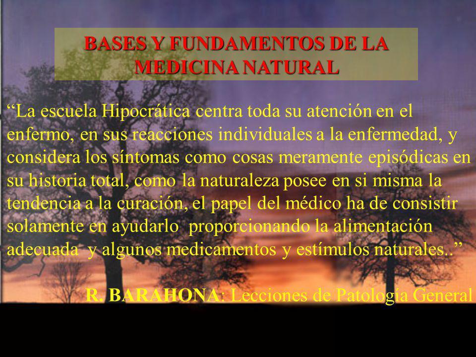 La escuela Hipocrática centra toda su atención en el enfermo, en sus reacciones individuales a la enfermedad, y considera los síntomas como cosas mera