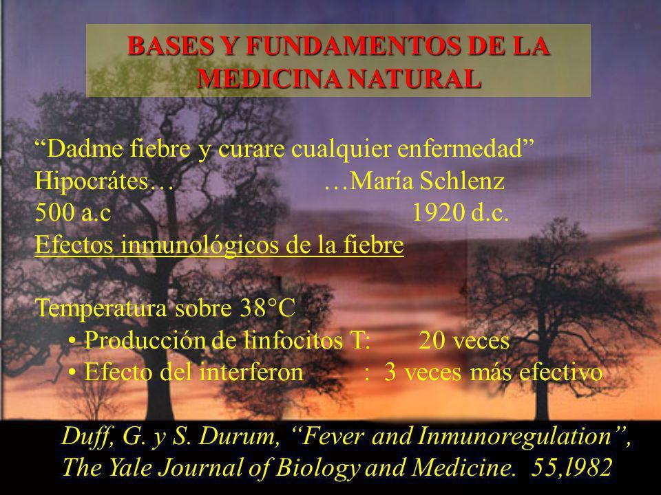 Dadme fiebre y curare cualquier enfermedad Hipocrátes… …María Schlenz 500 a.c 1920 d.c. Efectos inmunológicos de la fiebre Temperatura sobre 38°C Prod