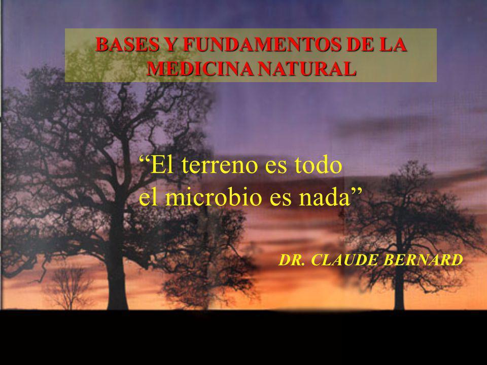 El terreno es todo el microbio es nada DR. CLAUDE BERNARD BASES Y FUNDAMENTOS DE LA MEDICINA NATURAL
