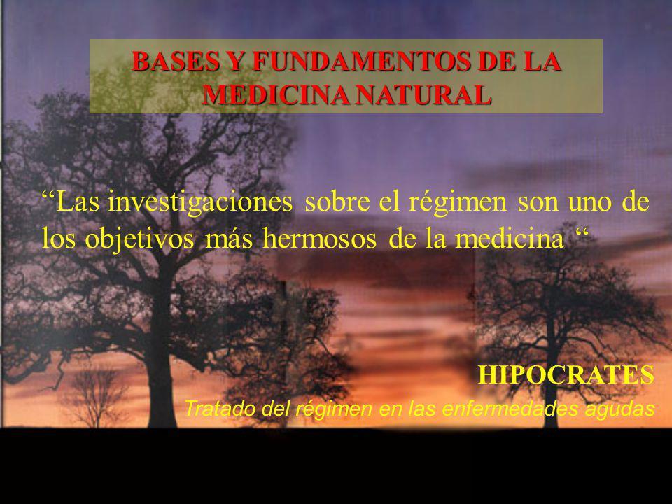 Las investigaciones sobre el régimen son uno de los objetivos más hermosos de la medicina HIPOCRATES Tratado del régimen en las enfermedades agudas BA