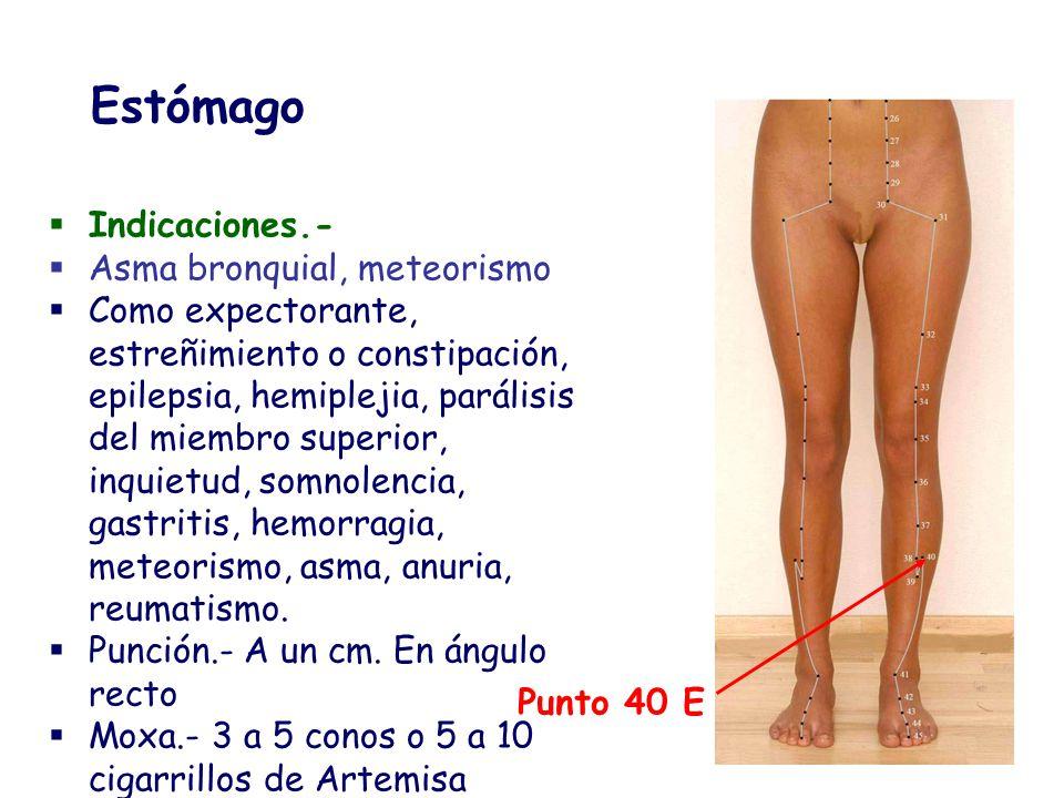 Indicaciones.- Asma bronquial, meteorismo Como expectorante, estreñimiento o constipación, epilepsia, hemiplejia, parálisis del miembro superior, inqu
