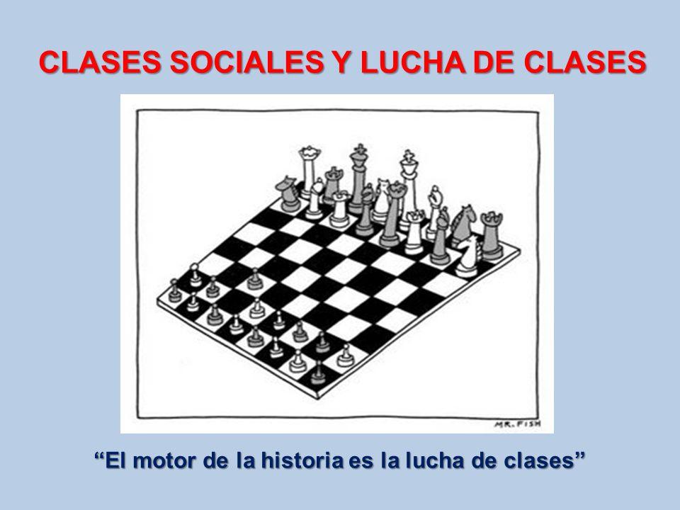 CLASES SOCIALES Y LUCHA DE CLASES El motor de la historia es la lucha de clases