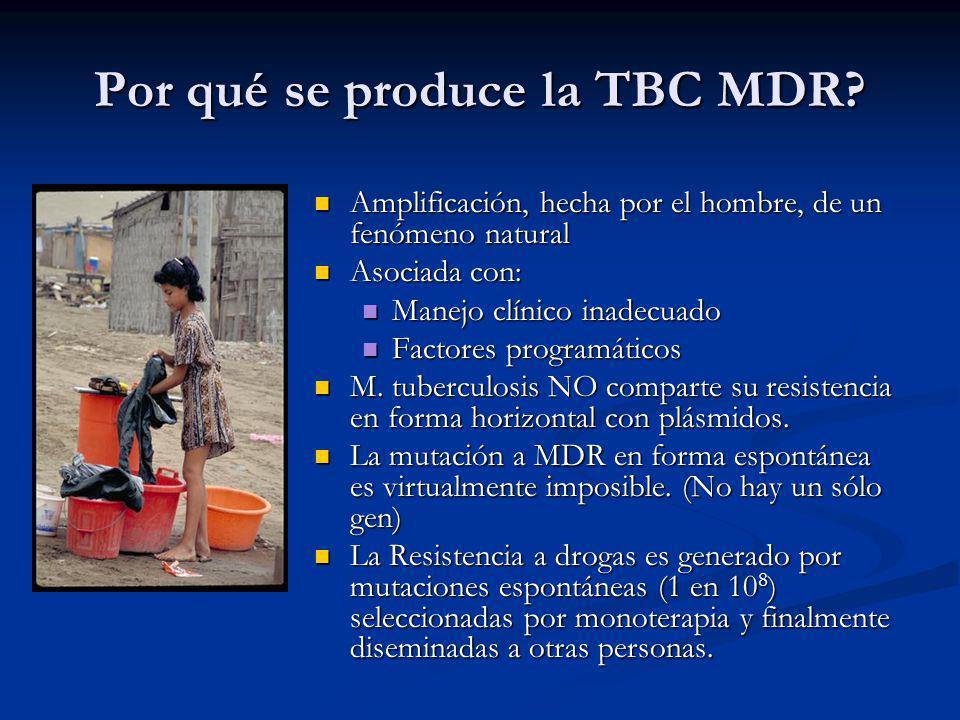 Por qué se produce la TBC MDR? Amplificación, hecha por el hombre, de un fenómeno natural Amplificación, hecha por el hombre, de un fenómeno natural A