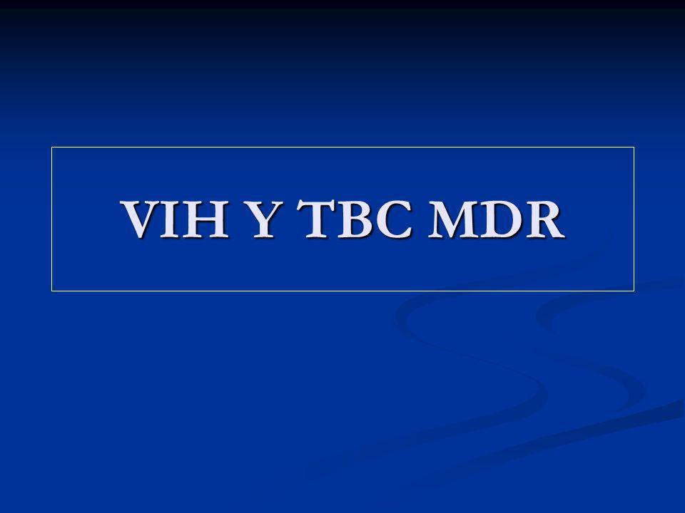VIH Y TBC MDR