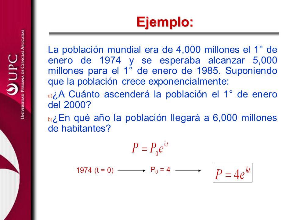 La población mundial era de 4,000 millones el 1° de enero de 1974 y se esperaba alcanzar 5,000 millones para el 1° de enero de 1985. Suponiendo que la