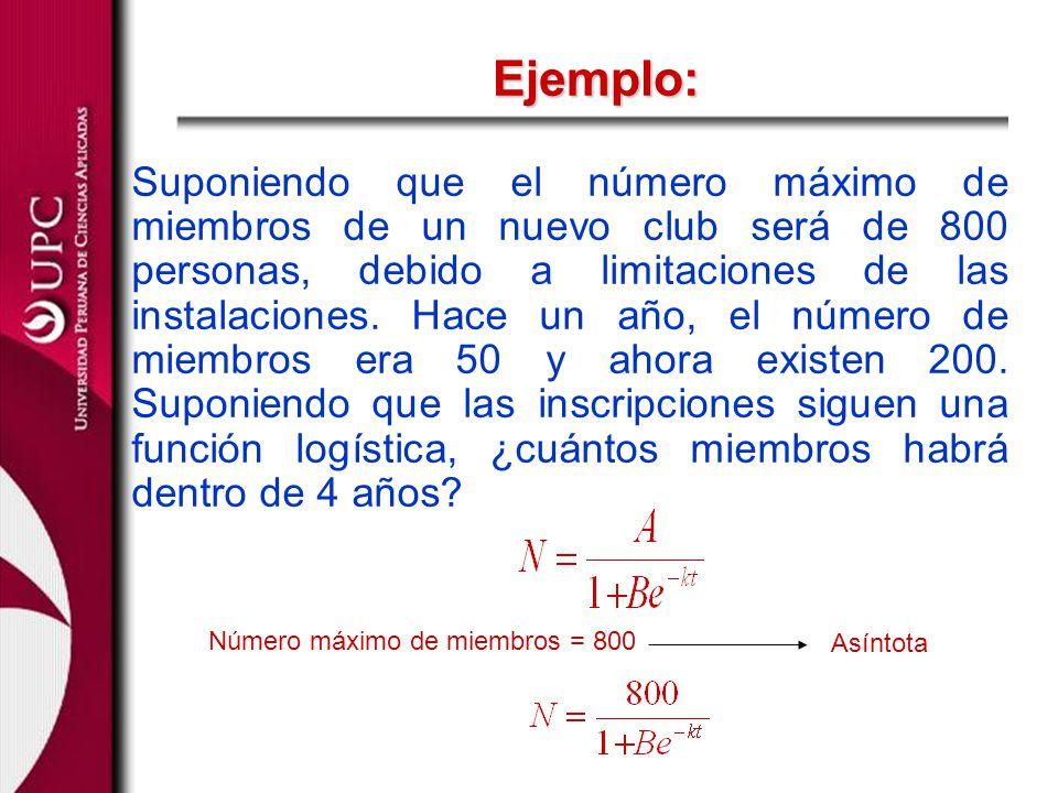 Ejemplo: Hace un año (t = 0)N = 50 Ahora (t = 1) N = 200