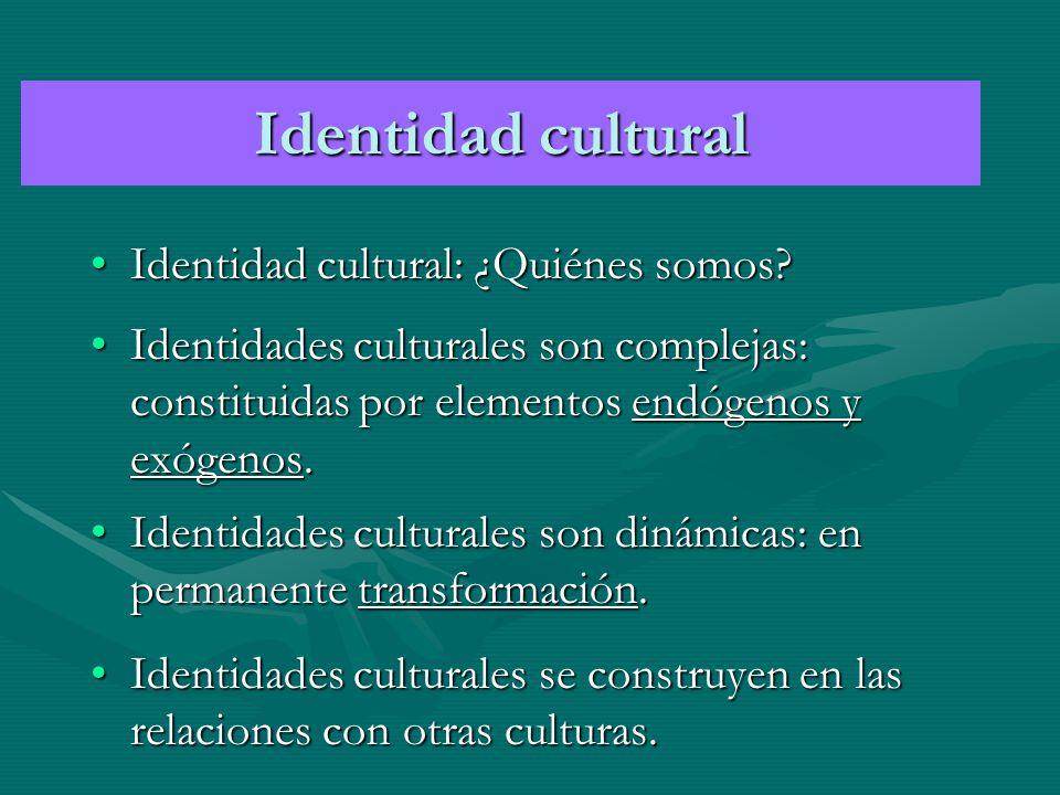 IDENTIDADES Y PODER Las identidades son mutables y penetrables al tiempo y las circunstancias.