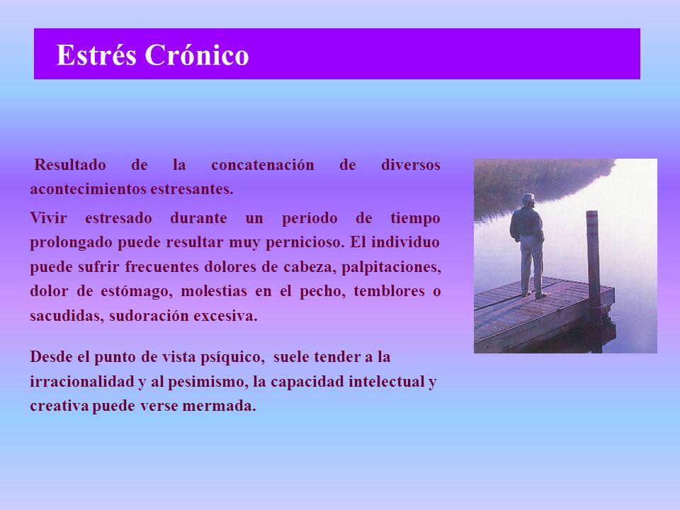 Estrés Crónico Resultado de la concatenación de diversos acontecimientos estresantes.