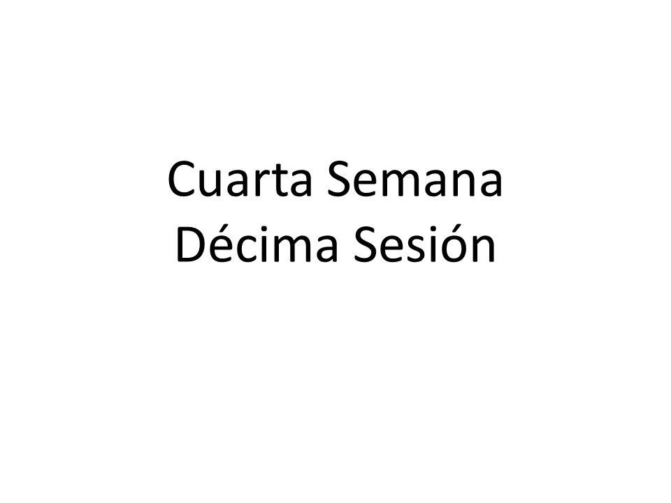Cuarta Semana Décima Sesión