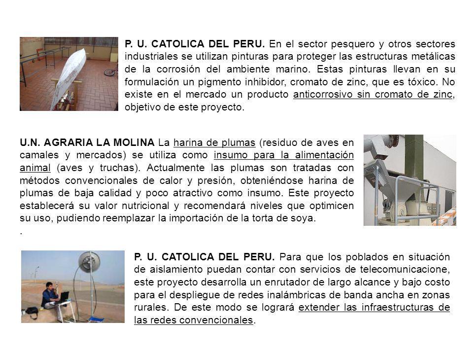 P. U. CATOLICA DEL PERU. En el sector pesquero y otros sectores industriales se utilizan pinturas para proteger las estructuras metálicas de la corros