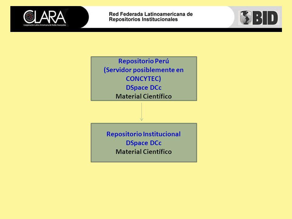 Repositorio Perú (Servidor posiblemente en CONCYTEC) DSpace DCc Material Científico Repositorio Institucional DSpace DCc Material Científico