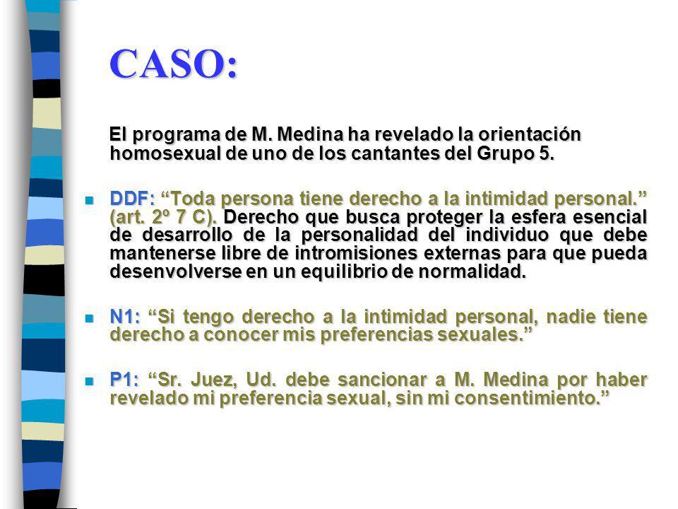 CASO: El programa de M.