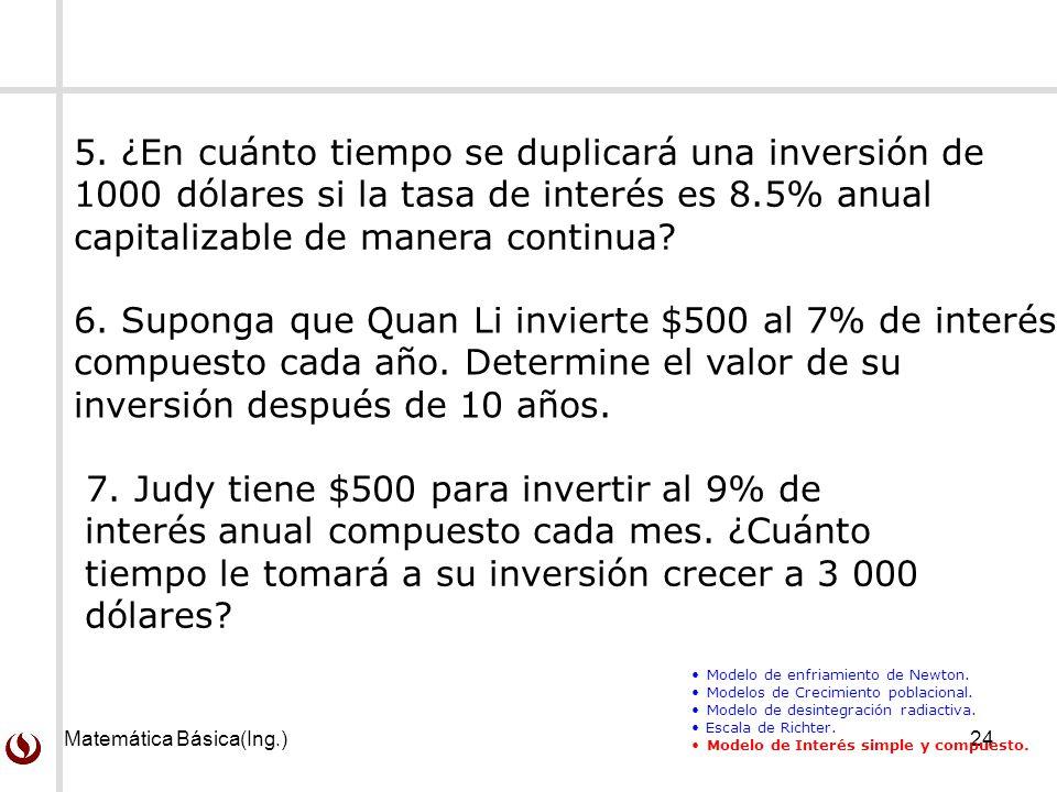 Matemática Básica(Ing.)24 7.
