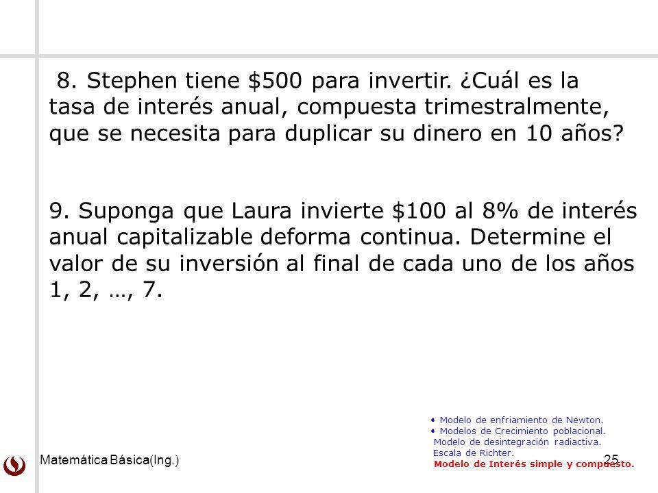 Matemática Básica(Ing.)25 9.